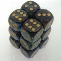 Chessex Lustrous Shadow 12 x D6 Dice Set