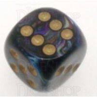 Chessex Lustrous Shadow 16mm D6 Spot Dice