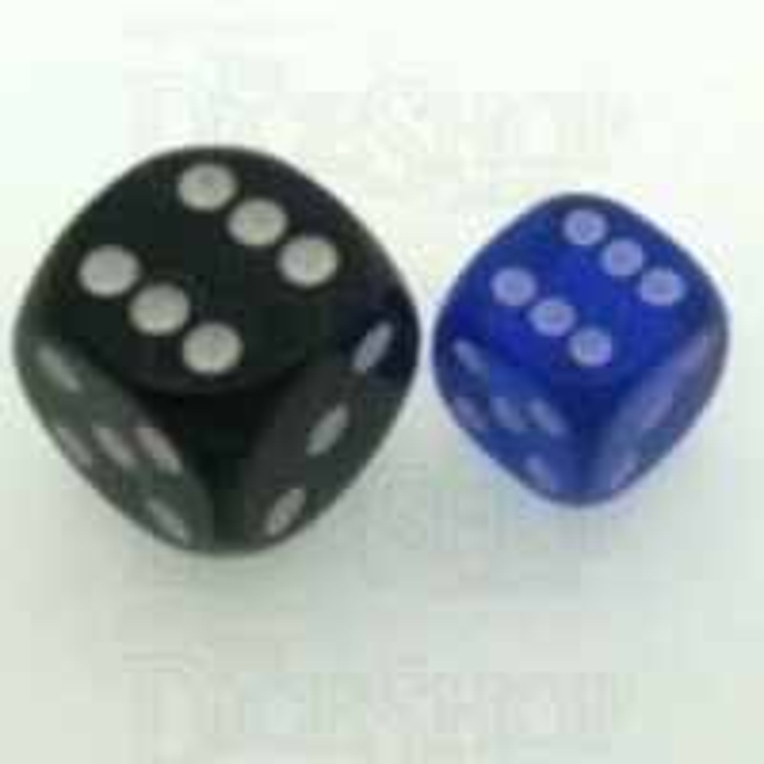 D&G Gem Blue 12mm D6 Spot Dice