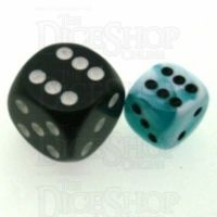 Chessex Gemini Teal & White 12mm D6 Spot Dice