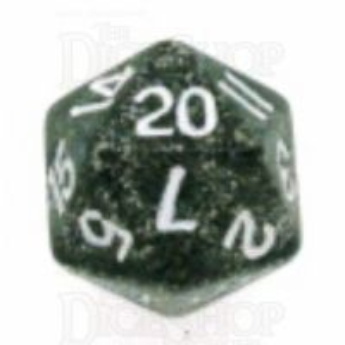 Koplow Glitter Black D20 Dice
