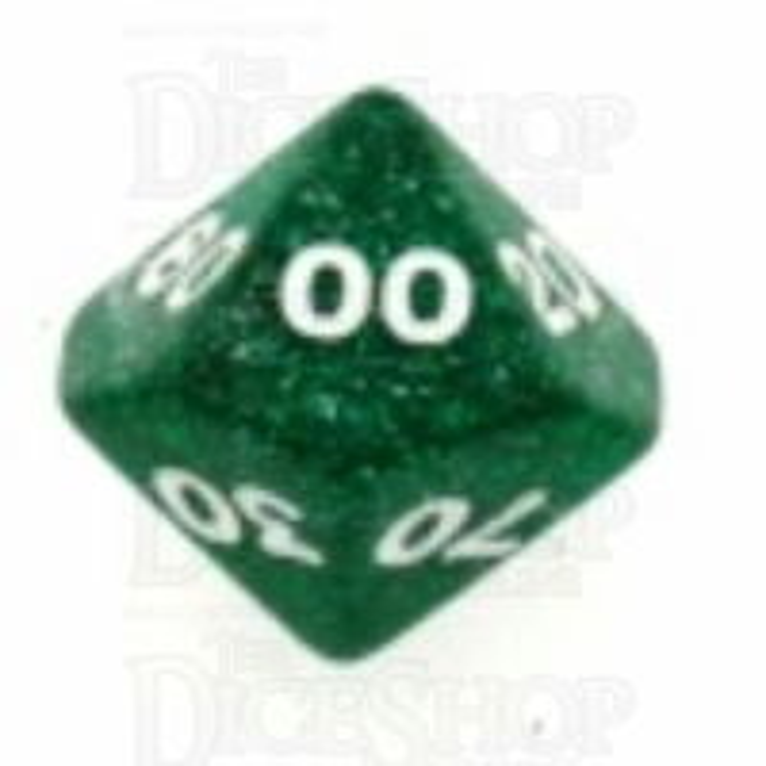 Koplow Glitter Green Percentile Dice