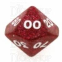 Koplow Glitter Red Percentile Dice