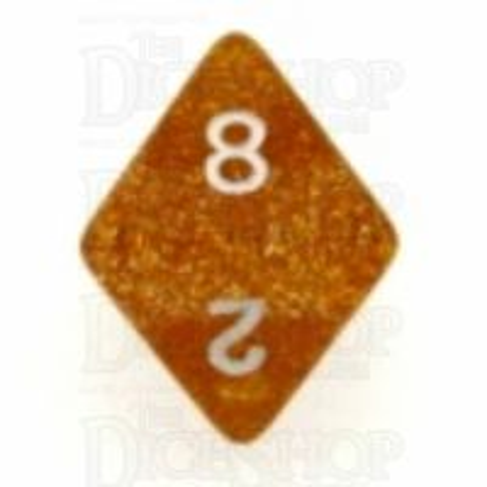 Koplow Glitter Yellow D8 Dice