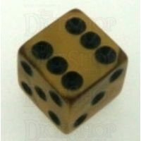 Koplow Olympic Gold Square Cornered 16mm D6 Spot Dice