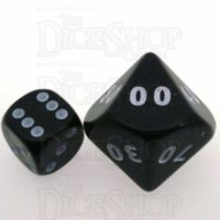 D&G Opaque Black JUMBO 34mm Percentile Dice
