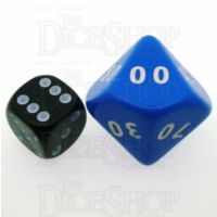 D&G Opaque Blue JUMBO 34mm Percentile Dice