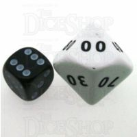 D&G Opaque White JUMBO 34mm Percentile Dice