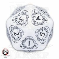 Q Workshop Card Game Level Counter White & Black Countdown D20 Dice