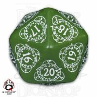 Q Workshop Card Game Level Counter Green & White Countdown D20 Dice