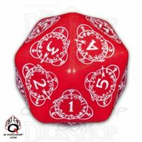 Q Workshop Card Game Level Counter Red & White Countdown D20 Dice