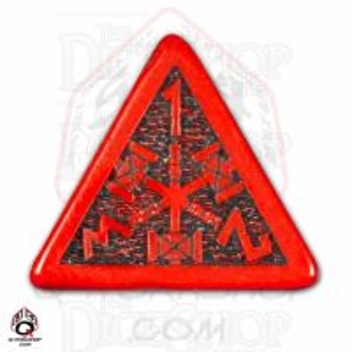 Q Workshop Dwarven Red & Black D4 Dice