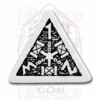 Q Workshop Dwarven White & Black D4 Dice