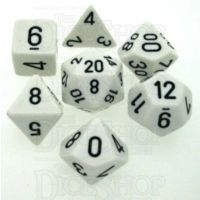 Chessex Opaque White & Black 7 Dice Polyset