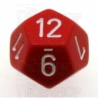 Chessex Opaque Red & White D12 Dice