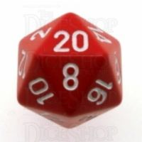 Chessex Opaque Red & White D20 Dice