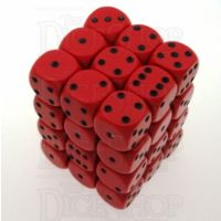 Chessex Opaque Red & Black 36 x D6 Dice Set