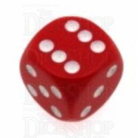 Chessex Opaque Red & White 16mm D6 Spot Dice
