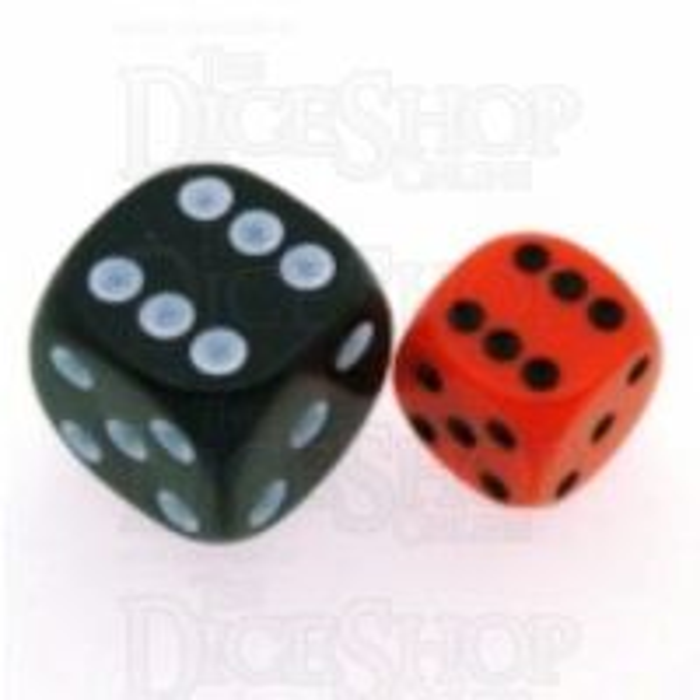 Chessex Opaque Orange & Black 12mm D6 Spot Dice