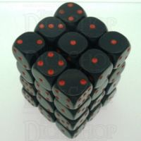 Chessex Opaque Black & Red 36 x D6 Dice Set