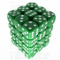 Chessex Opaque Green & White 36 x D6 Dice Set
