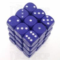 Chessex Opaque Purple & White 36 x D6 Dice Set