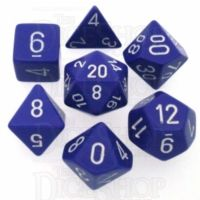 Chessex Opaque Purple & White 7 Dice Polyset