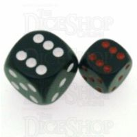 Chessex Opaque Black & Red 12mm D6 Spot Dice