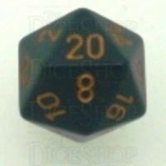 Chessex Opaque Dark Grey & Copper D20 Dice