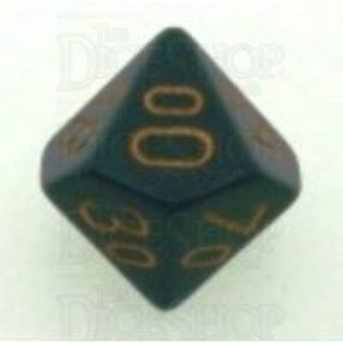 Chessex Opaque Dark Grey & Copper Percentile Dice