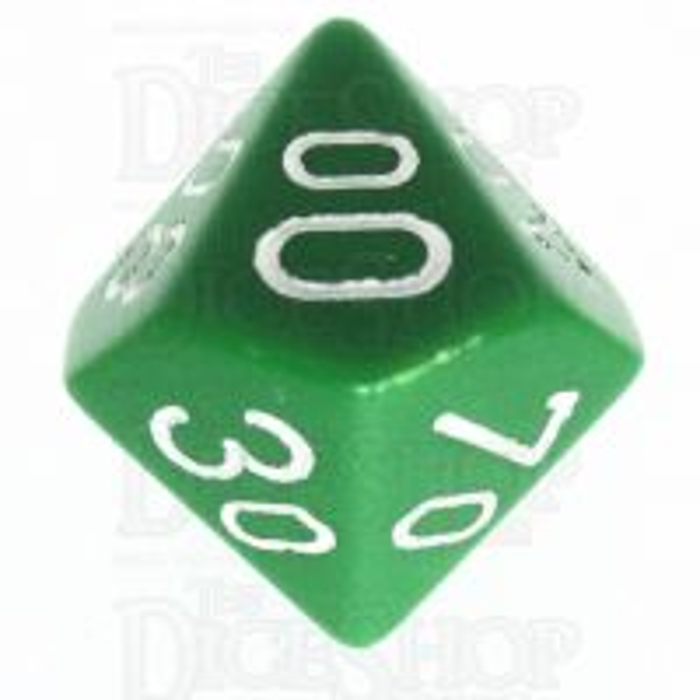 Chessex Opaque Green & White Percentile Dice
