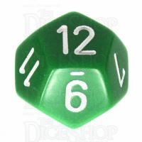 Chessex Opaque Green & White D12 Dice
