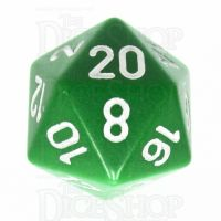 Chessex Opaque Green & White D20 Dice