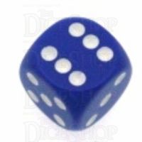 Chessex Opaque Purple & White 16mm D6 Spot Dice