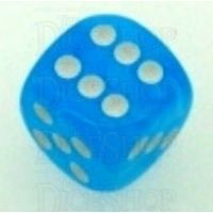 Chessex Cirrus Light Blue 16mm D6 Spot Dice - Discontinued