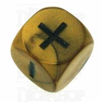 Grey Ghost Olympic Pearl Gold Fudge Fate D6 Dice