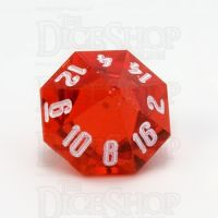 GameScience Gem Ruby & White Ink D16 Dice