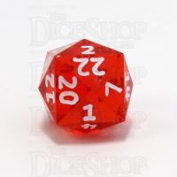 GameScience Gem Ruby & White Ink D24 Dice