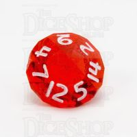 GameScience Gem Ruby & White Ink D14 Dice