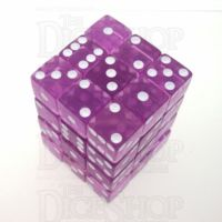 Koplow Transparent Orchid Square Cornered 36 x D6 Dice Set
