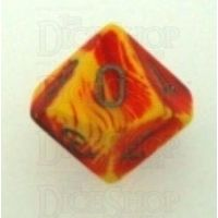 Chessex Gemini Red & Yellow D10 Dice