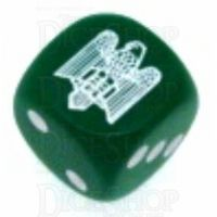 Chessex Opaque Green WWII Italian Eagle Logo D6 Spot Dice