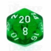Chessex Translucent Green & White D20 Dice