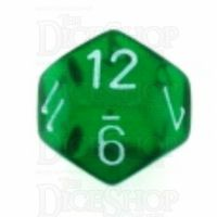 Chessex Translucent Green & White D12 Dice