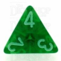 Chessex Translucent Green & White D4 Dice