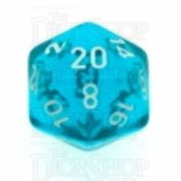 Chessex Translucent Teal & White D20 Dice