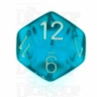 Chessex Translucent Teal & White D12 Dice