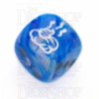 Chessex Vortex Blue SHIT Logo D6 Spot Dice