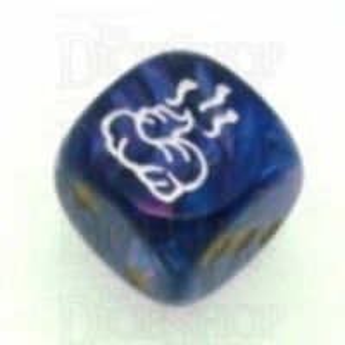 Chessex Lustrous Purple SHIT Logo D6 Spot Dice