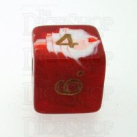 D&G Marble Red & White D6 Dice